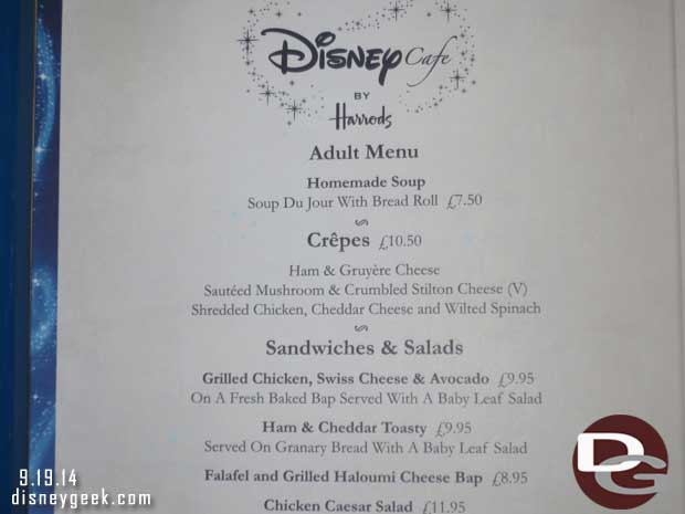 Disney Cafe of Harrods - London