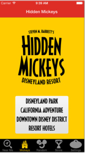 Hidden Mickeys of the Disneyland Resort App