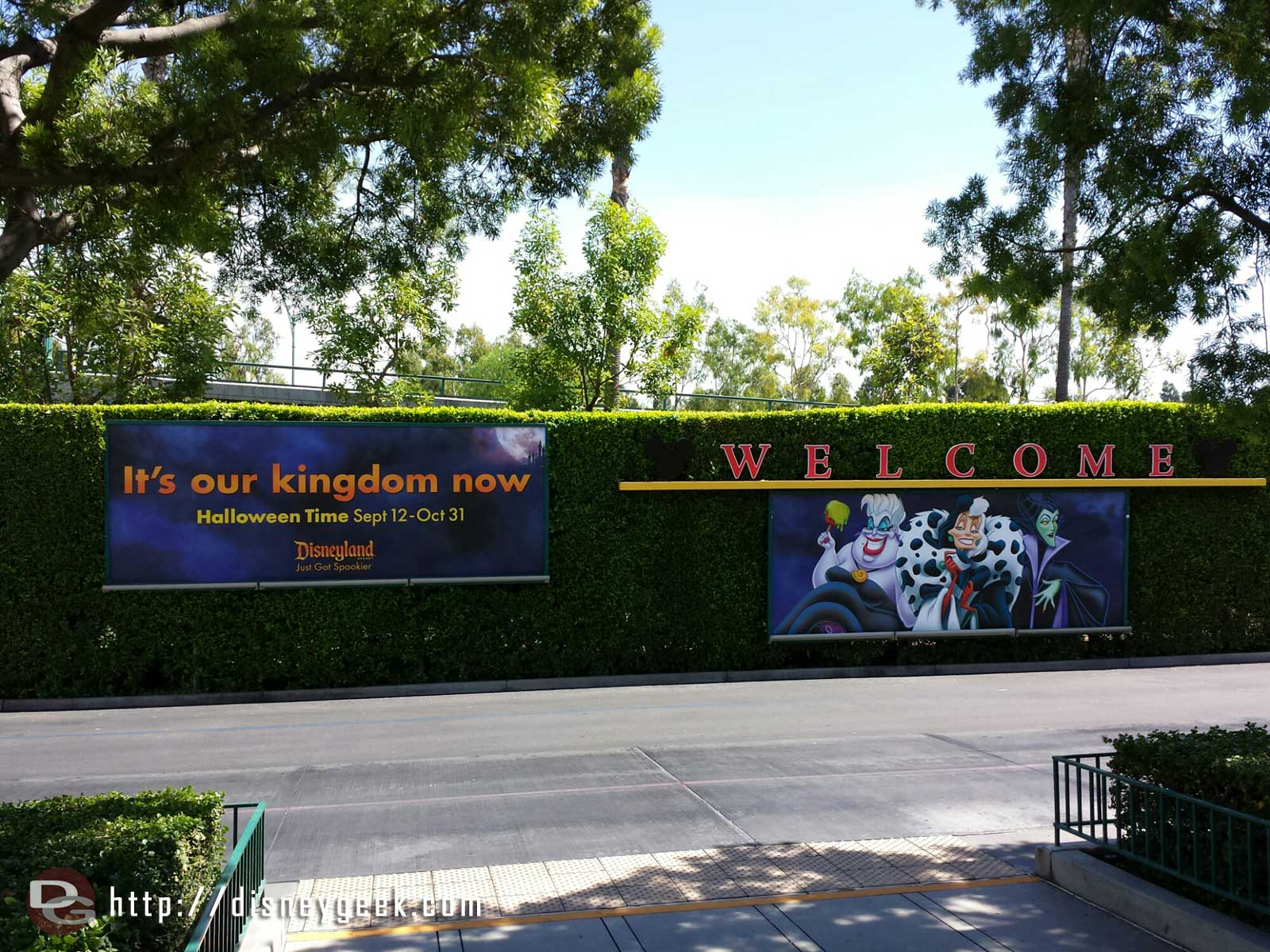 Halloweentime starts today #Disneyland. Here are two tram stop billboards