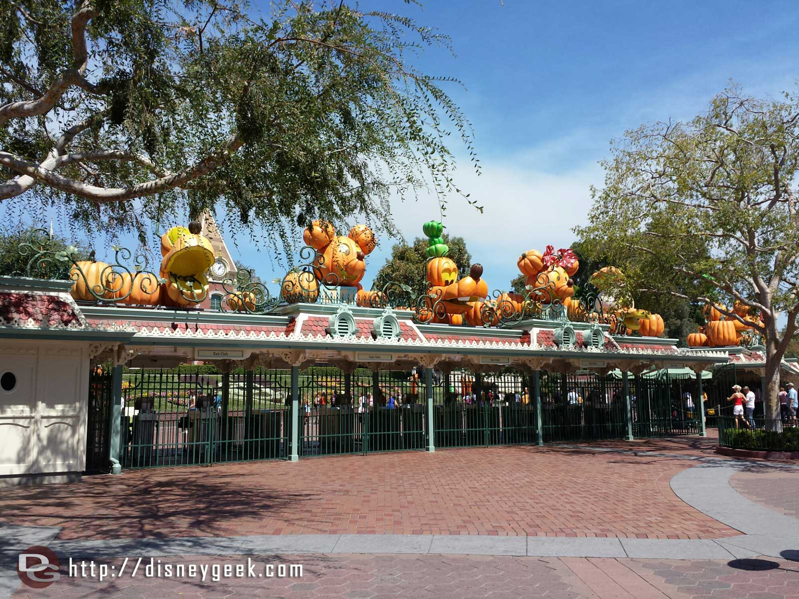 Tge fab 5 in pumpkins greet you at #Disneyland again