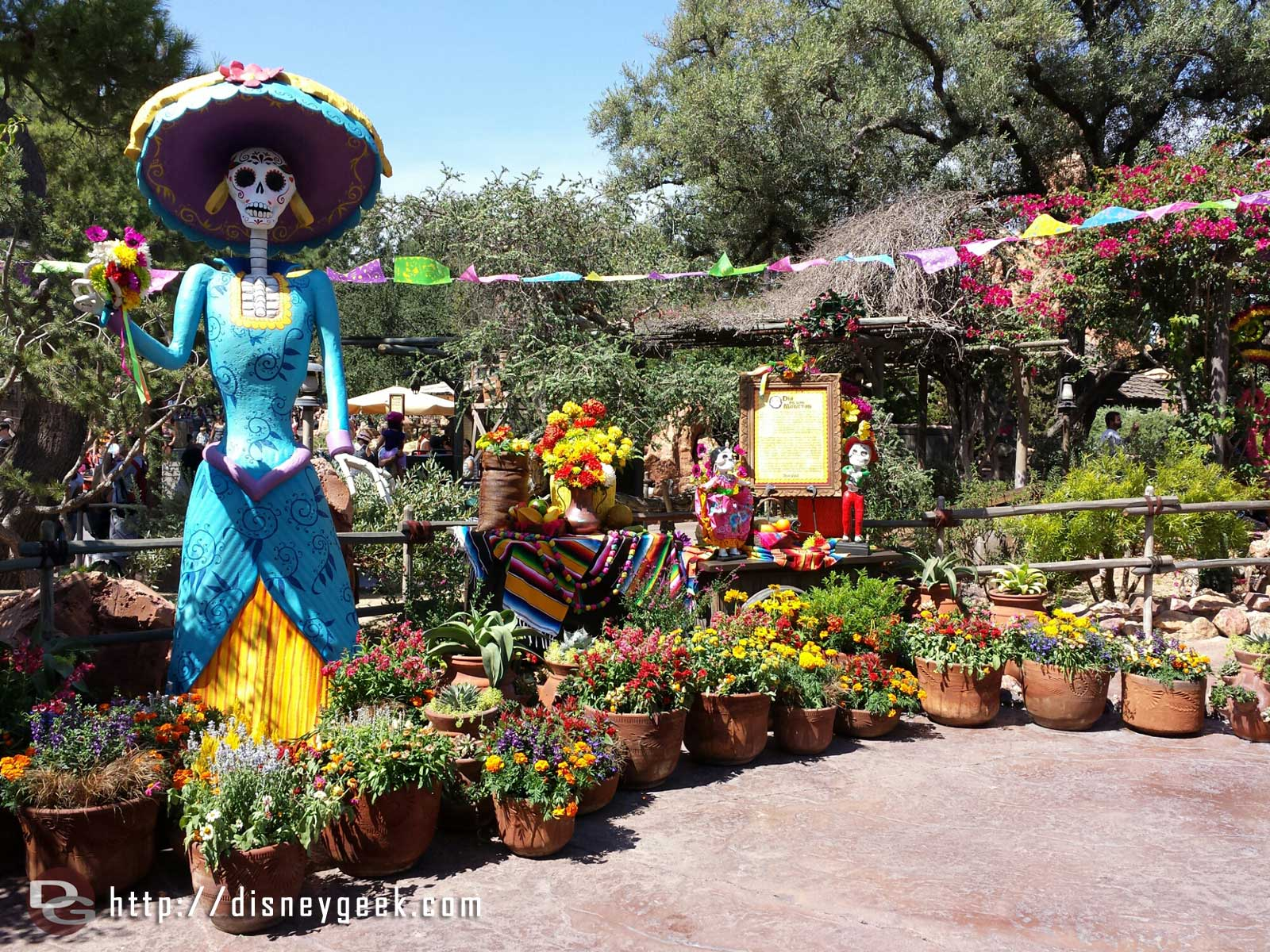 Dia De Los Muertos is being celebrated in Zocalo Park #Disneyland