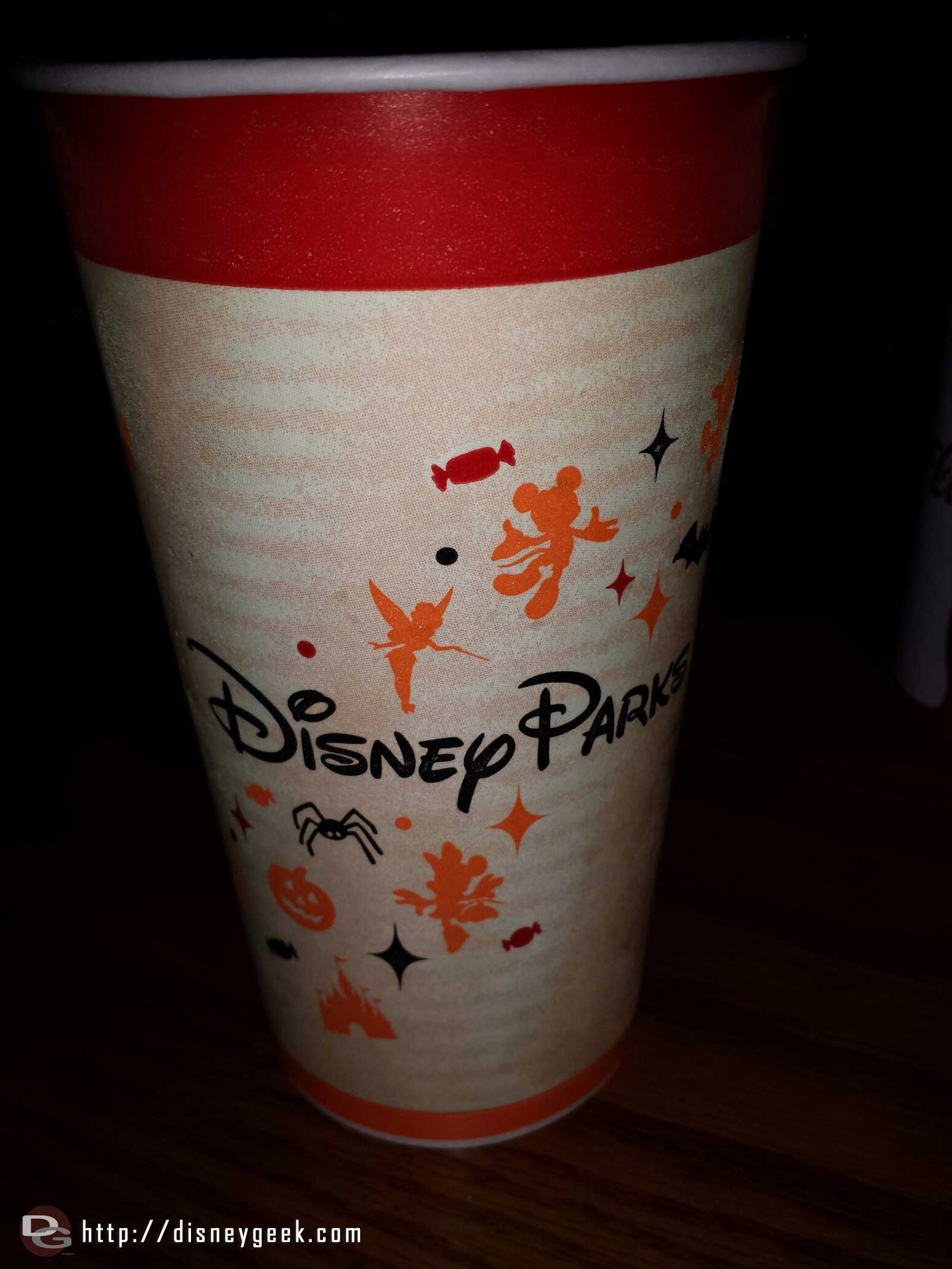 Generic Disney Parks Halloween fountain drink cups are back again this tear