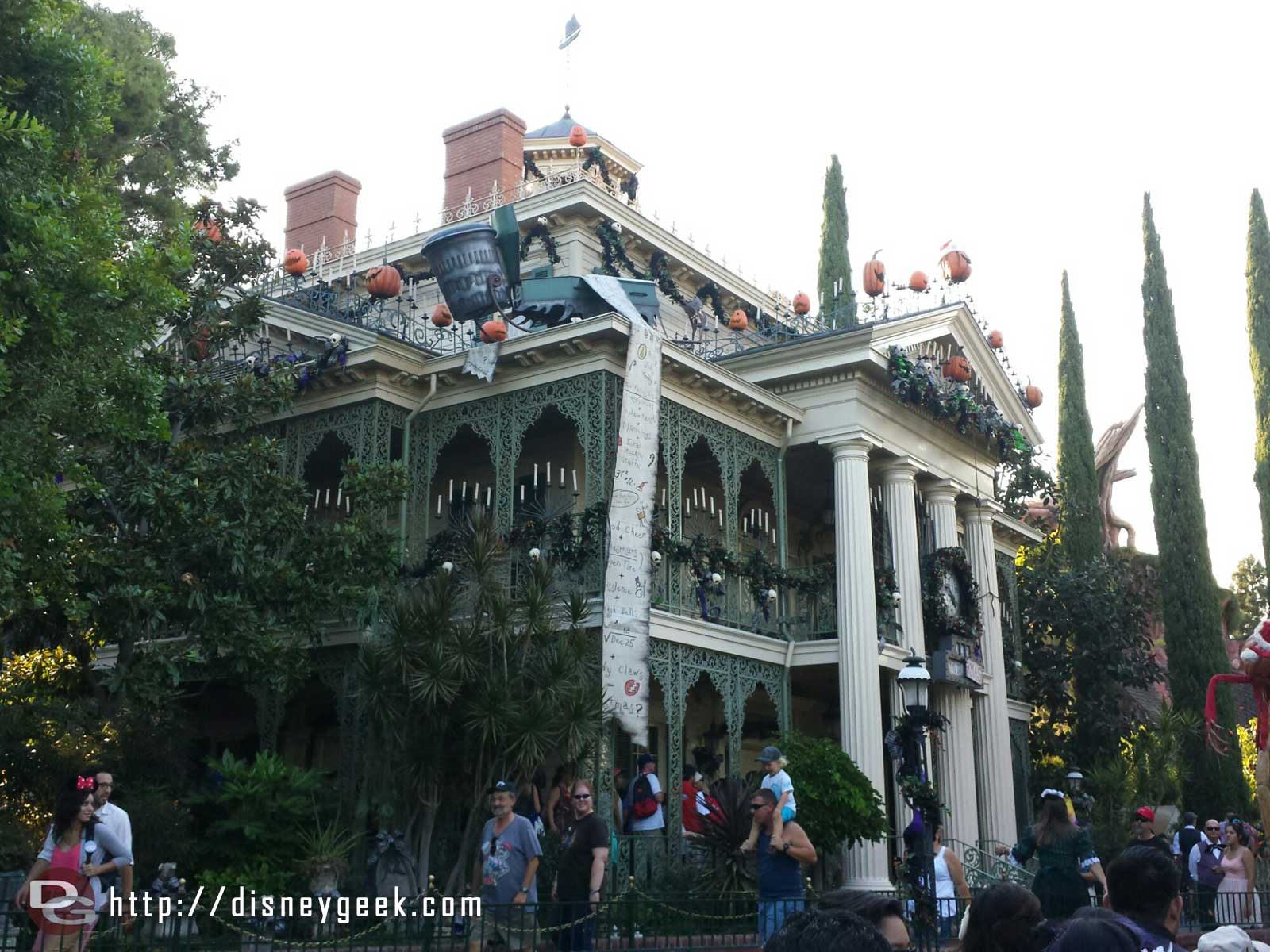 Haunted Mansion Holiday time.. approaching the mansion
