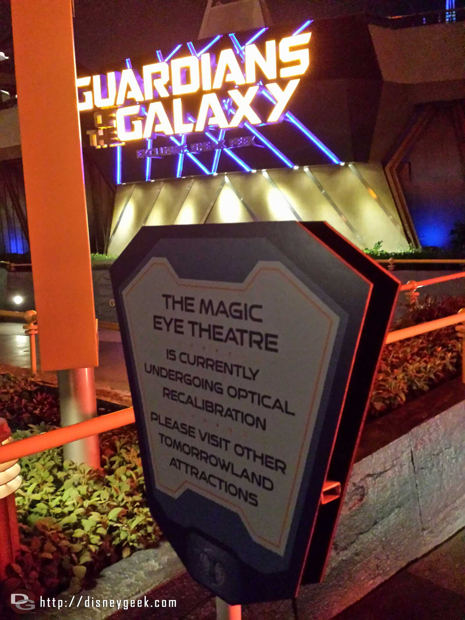 The Guardians of the Galaxy sneak peak is closed.  Is Captain EO returning?