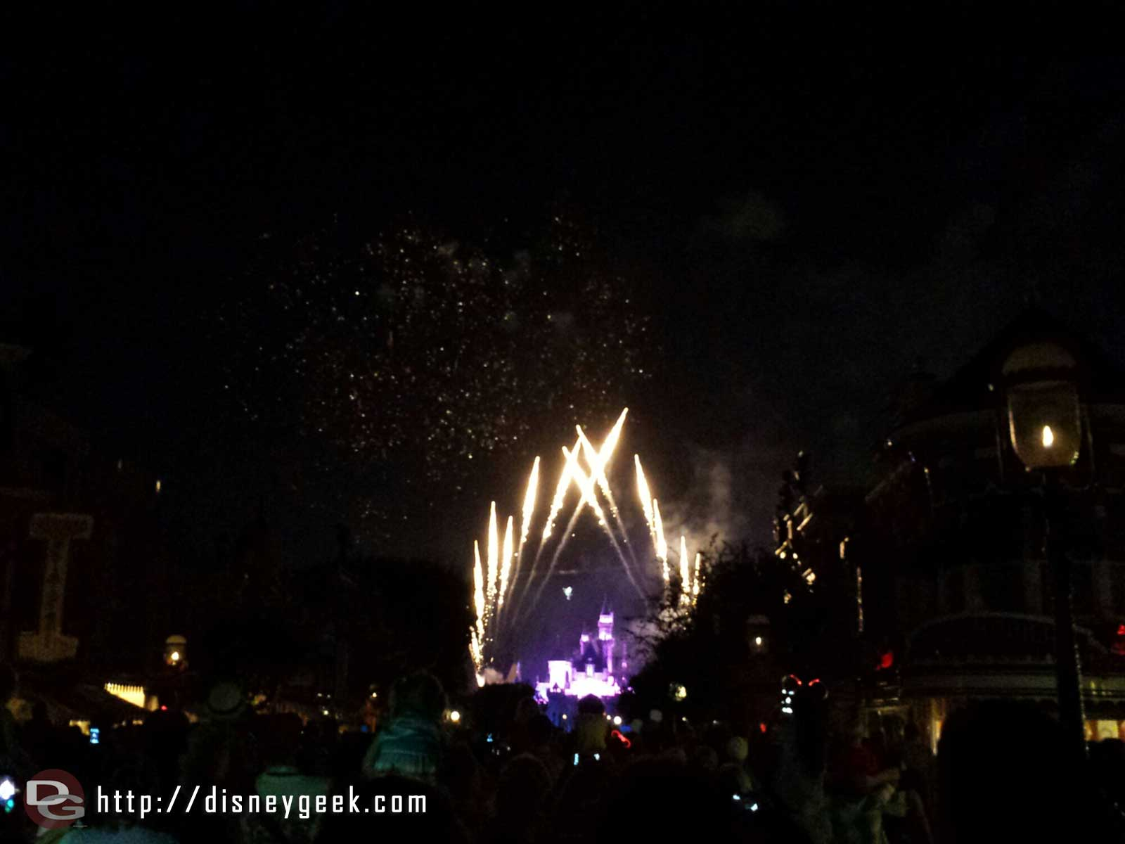 On Main Street USA for Remember Dreams Come True, Tinkerbell flew tonight