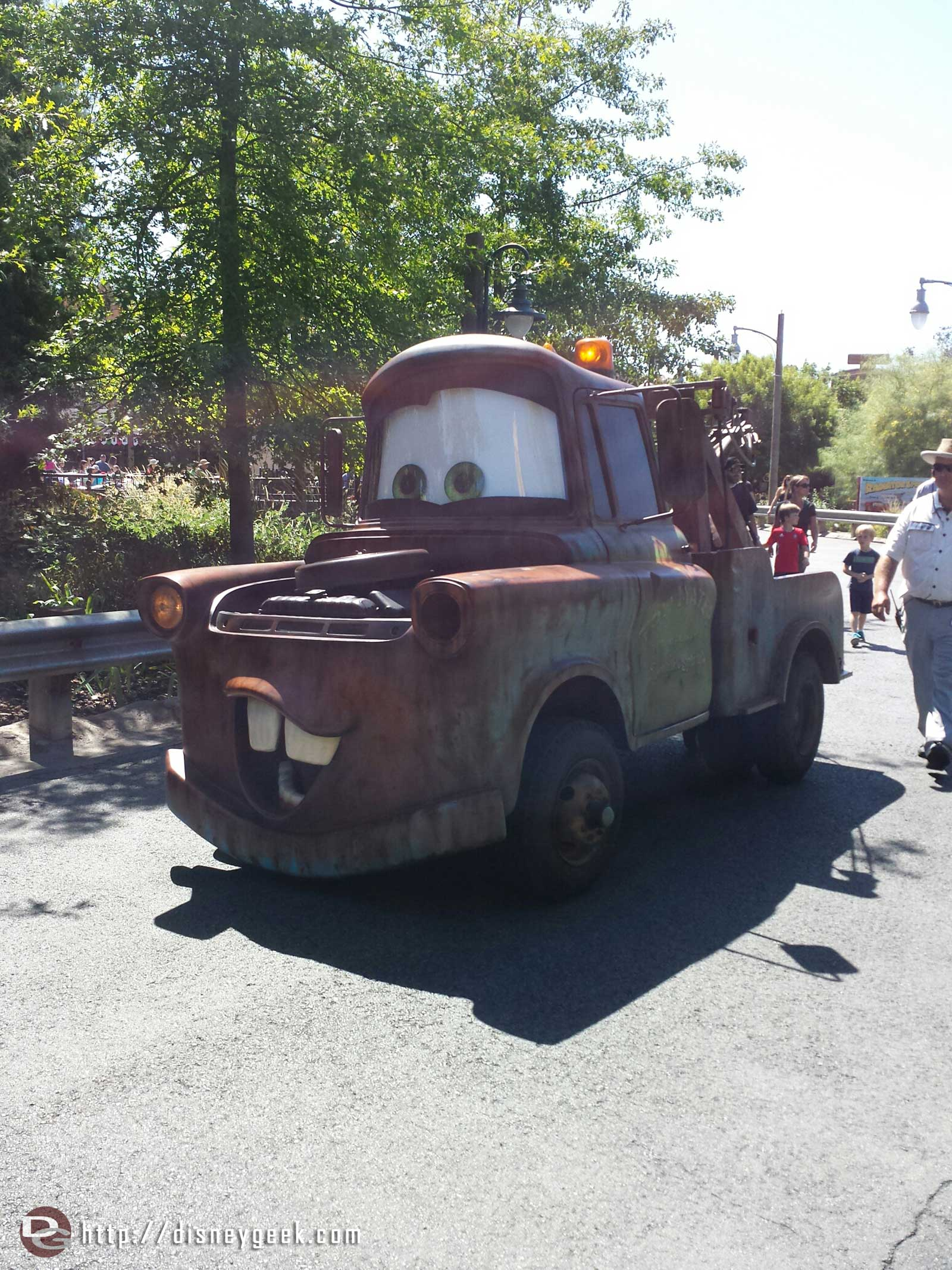 Mater rolling down Cross Street as I head toward #CarsLand