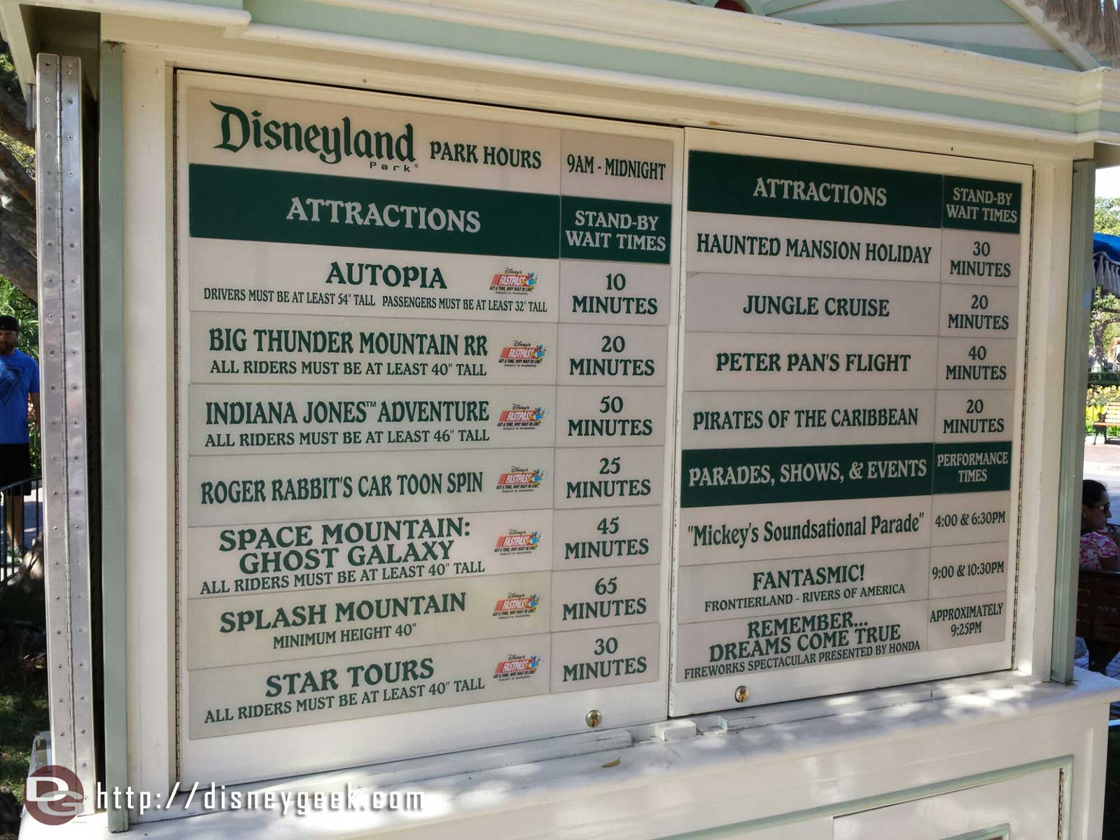 #Disneyland waits as of 3:03pm