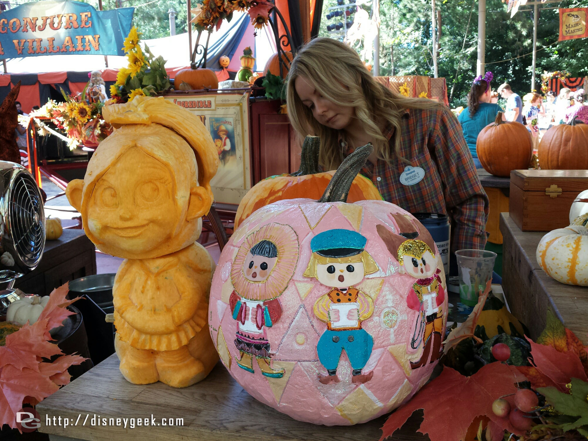Small World Pumpkin the CM in the background created it #HalloweenTime #Disneyland
