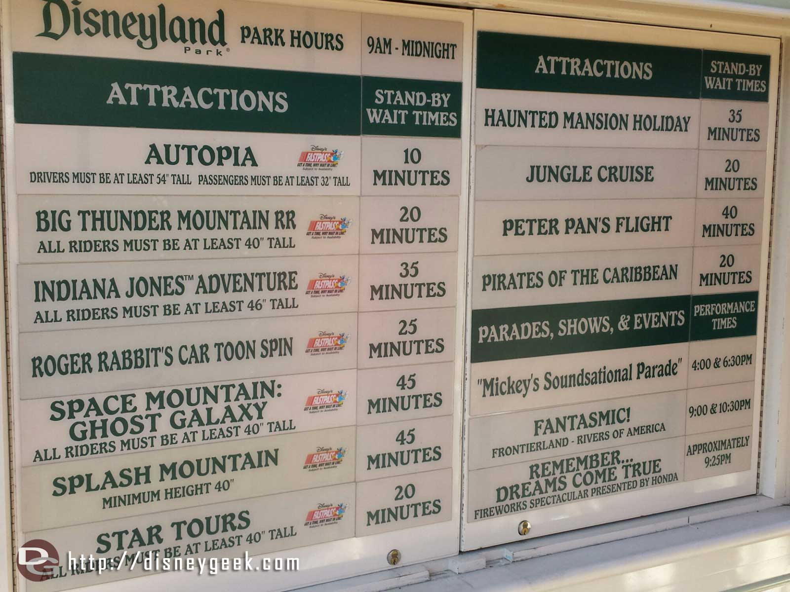 #Disneyland waits as of 4:43pm