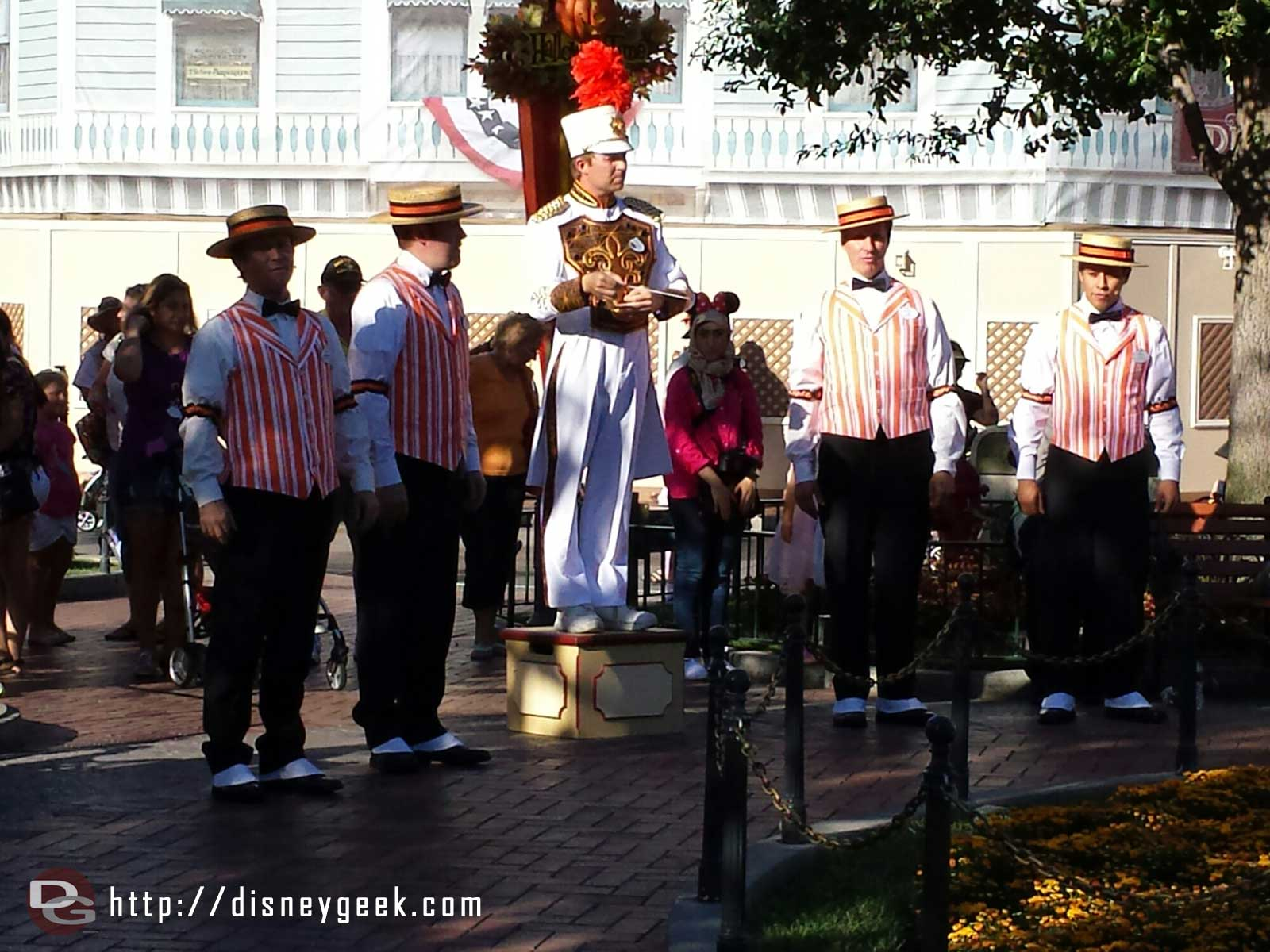 The Dapper Dans at the nightly Flag Retreat Ceremony #Disneyland
