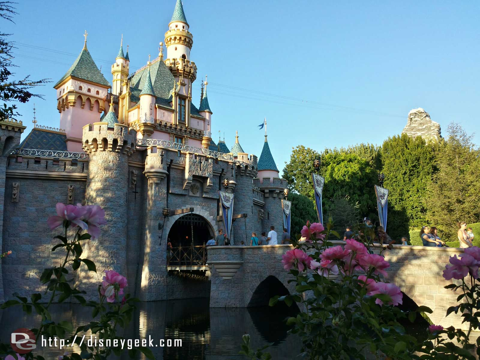 Sleeping Beauty Castle as the sun is setting this evening #Disneyland