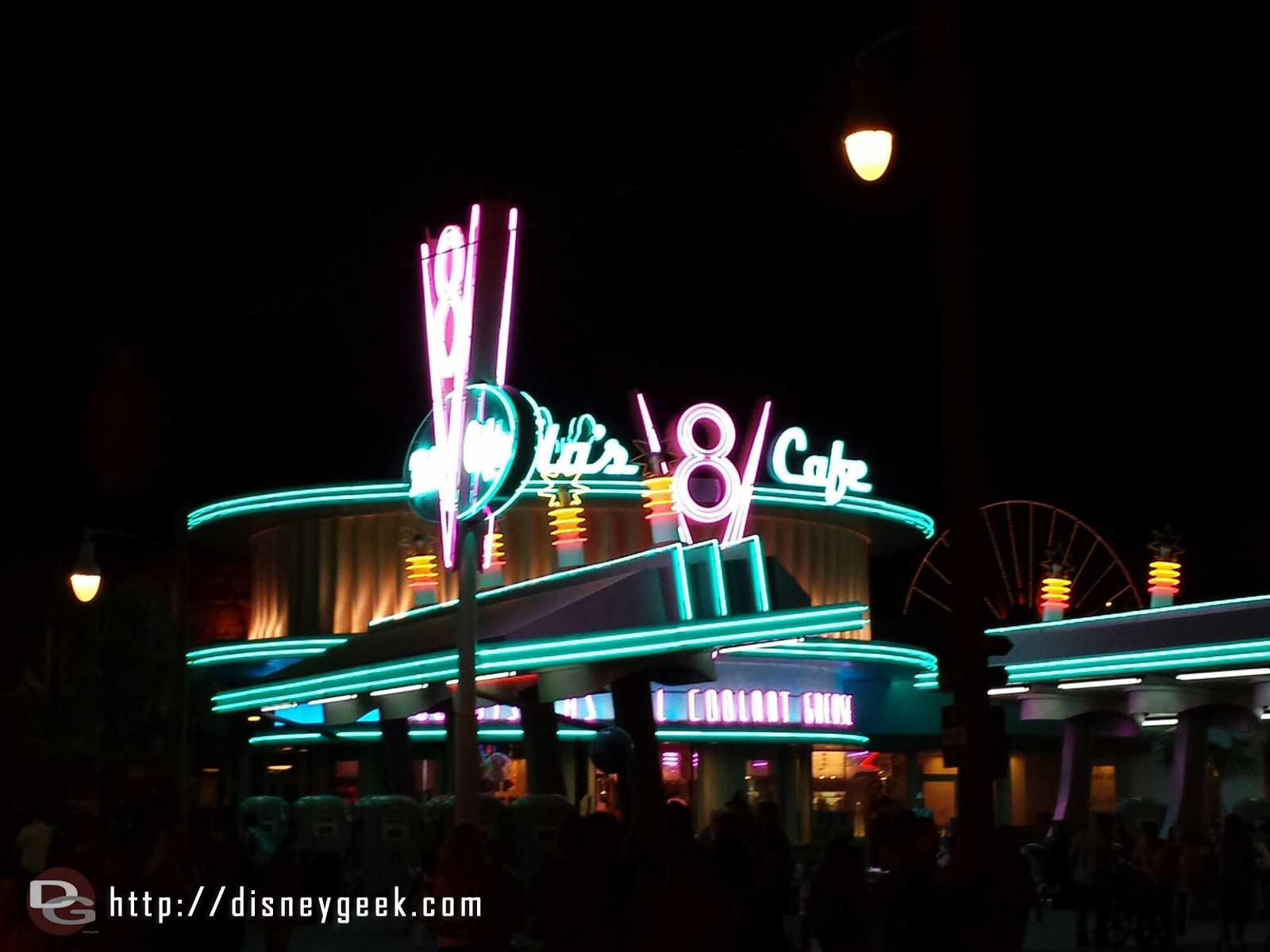 Flos V8 Cafe #neon #CarsLand