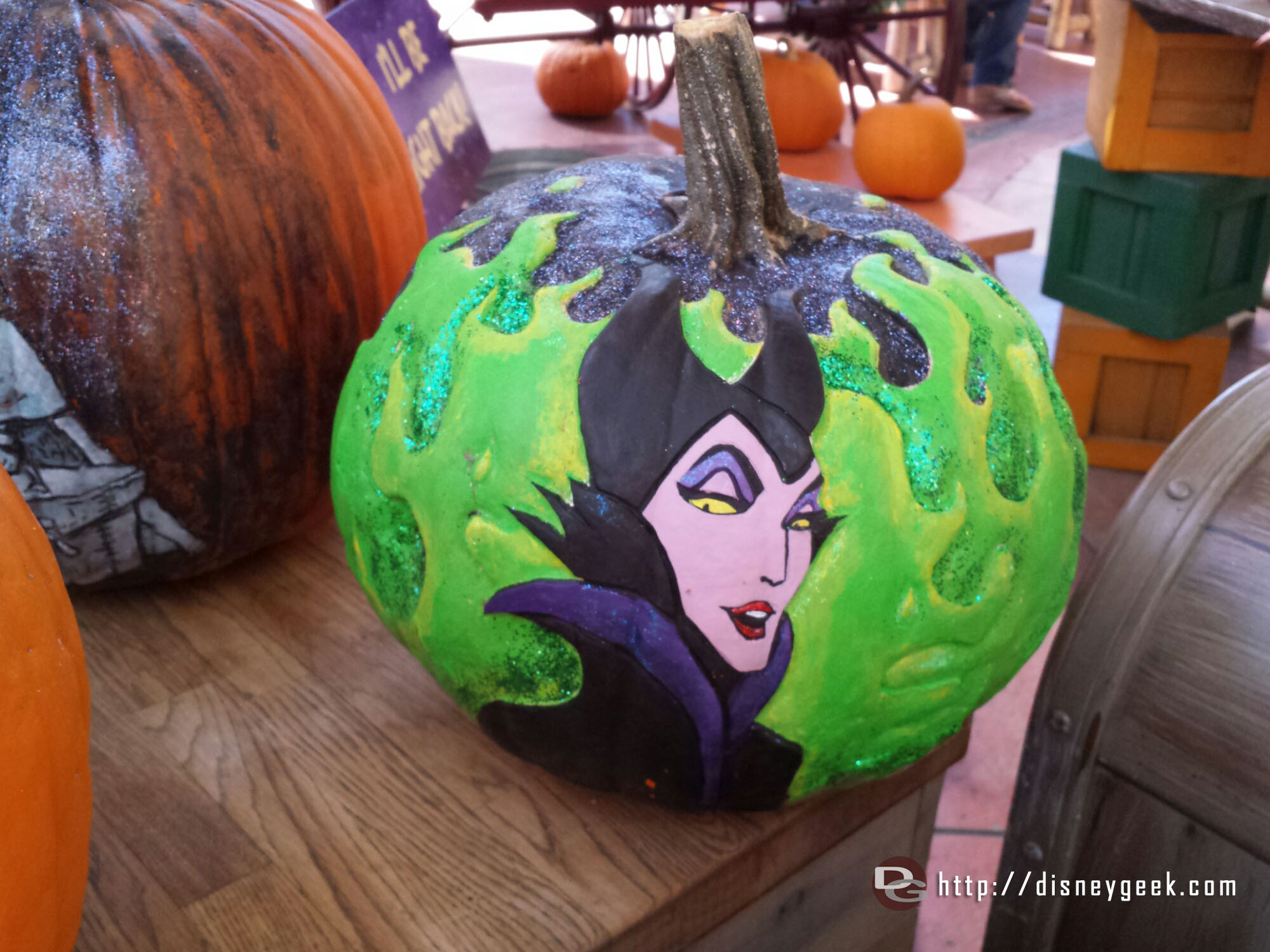 Maleficent pumpkin #HalloweenTime #Disneyland