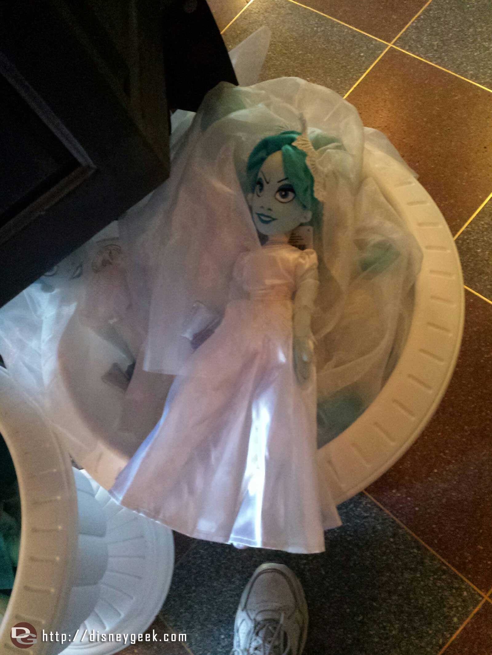 Haunted Mansion bride doll for sale in New Orleans Square