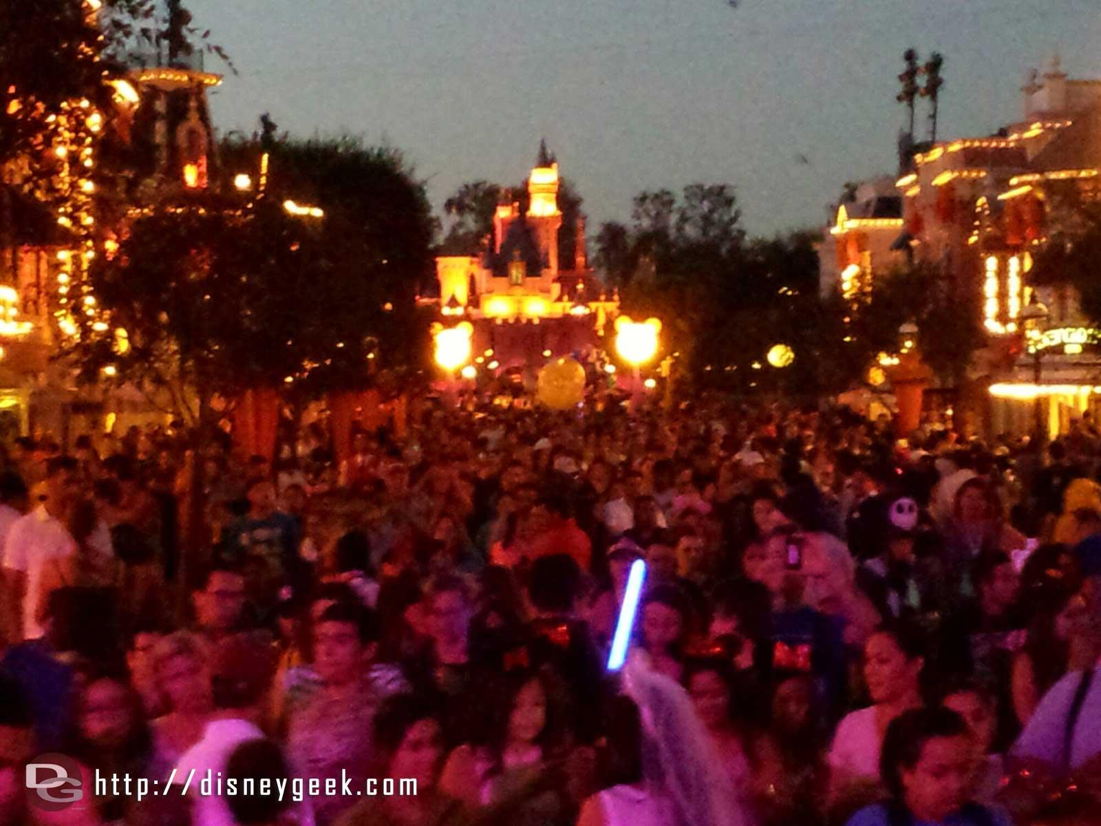 One last look up Main Street USA before leaving #Disneyland