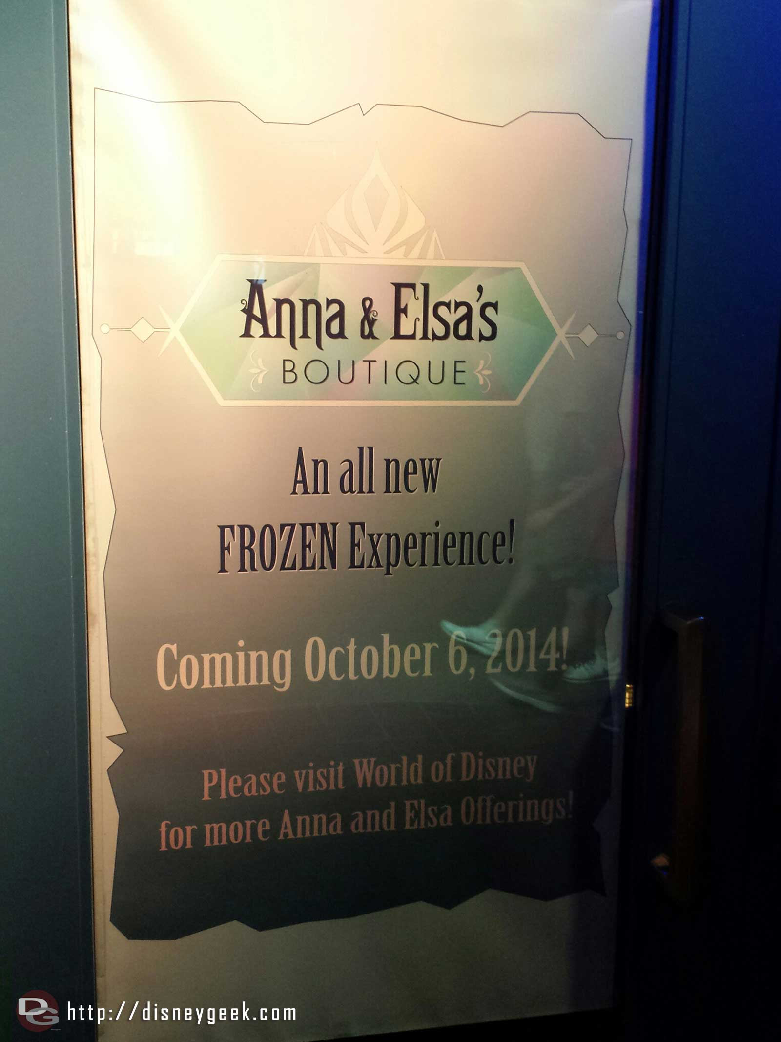 Anna & Elsa's Boutique is replacing Studio 365