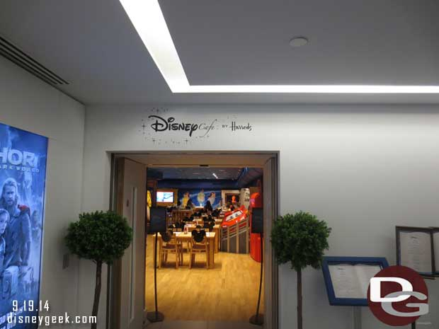 Disney Cafe by Harrods & Disney Store in London – Next week guest pictures of both