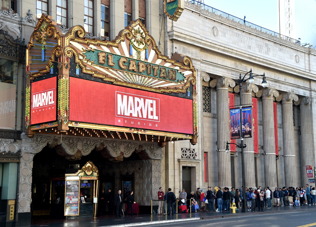 LOS ANGELES, CA - OCTOBER 28:  A general view of the atmposphere at Marvel Studios fan event at The El Capitan Theatre on October 28, 2014 in Los Angeles, California.  (Photo by Alberto E. Rodriguez/Getty Images  for Disney)