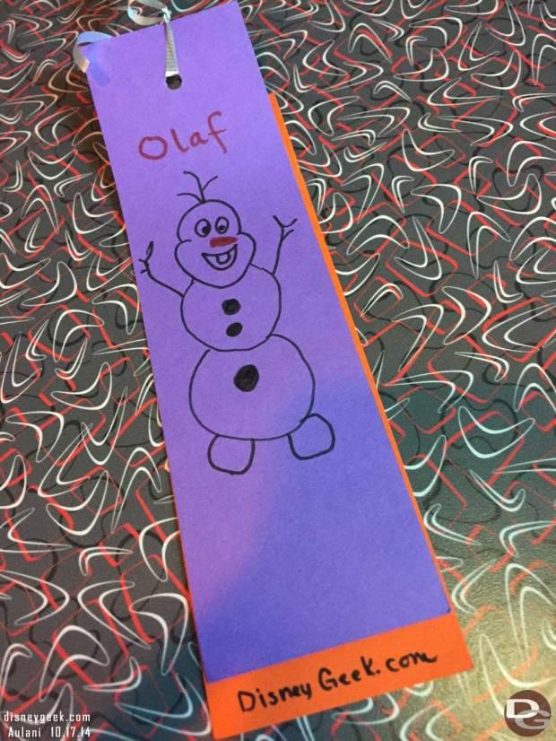 Aulani - Arts/Crafts Olaf