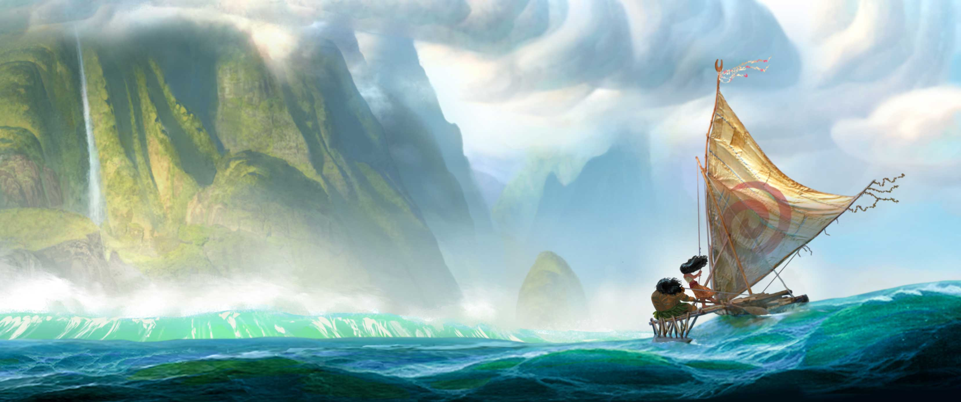 "A first look at the Walt Disney Animation Studios upcoming film ""Moana"" concept art – opening late 2016  (Disney Release)"
