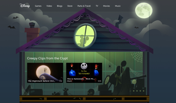 Disney launches a Halloween Portal @ disney.com/halloween (Press Release)