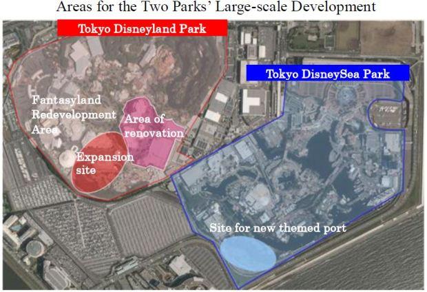 Tokyo Disneyland Resort Expansion Diagram