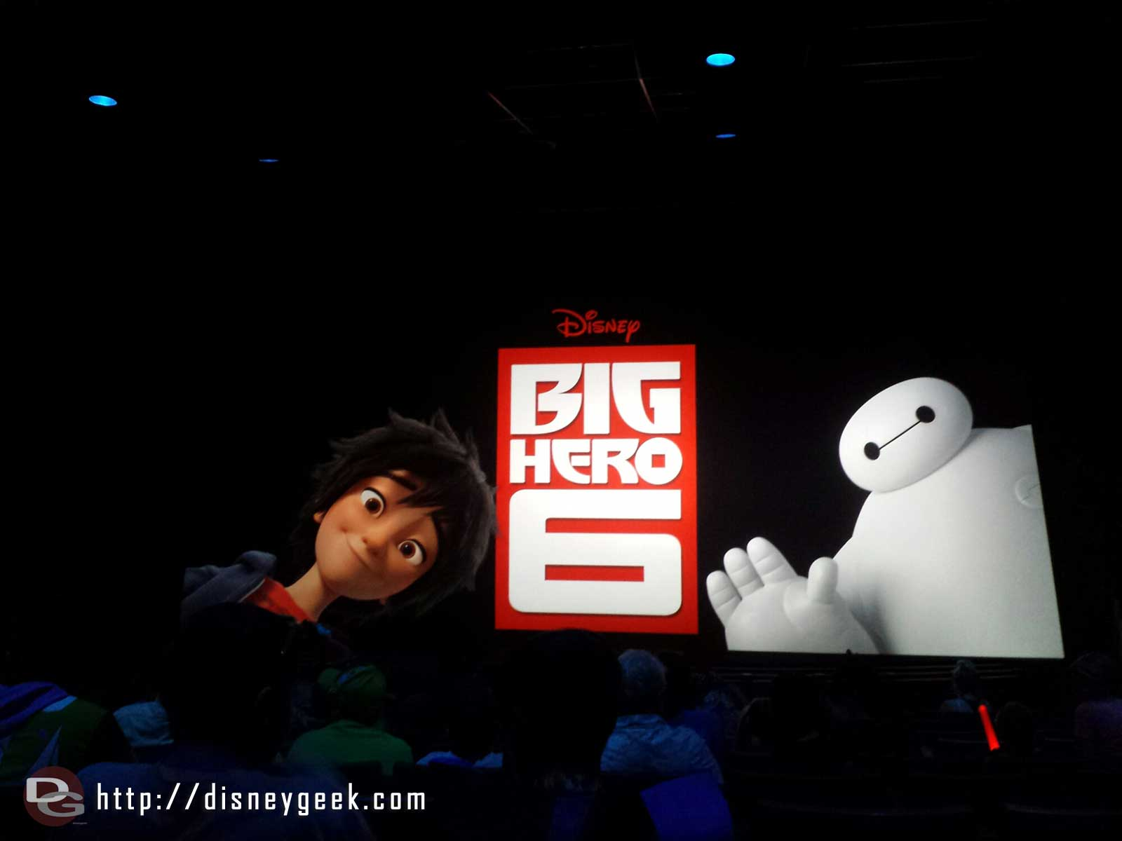 Stopped by the #BigHero6 sneak peek #Disneyland