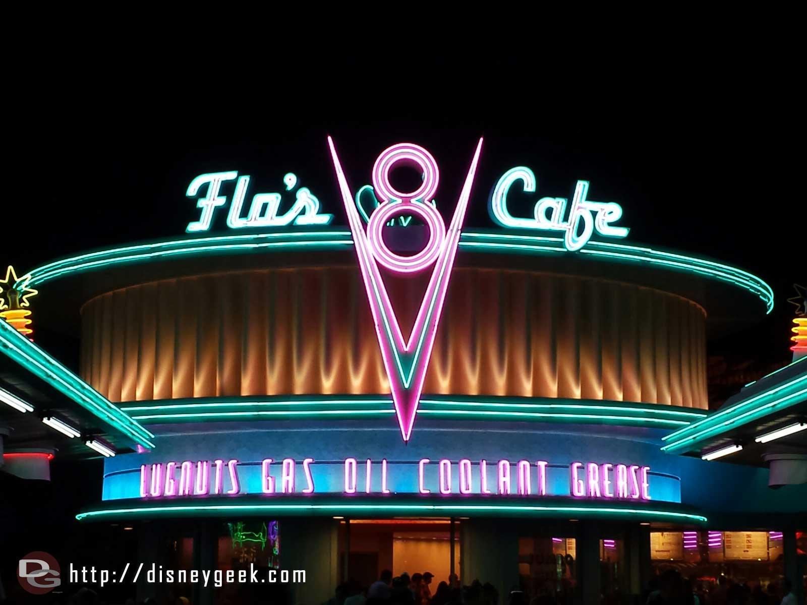Flo's V8 Cafe neon #CarsLand