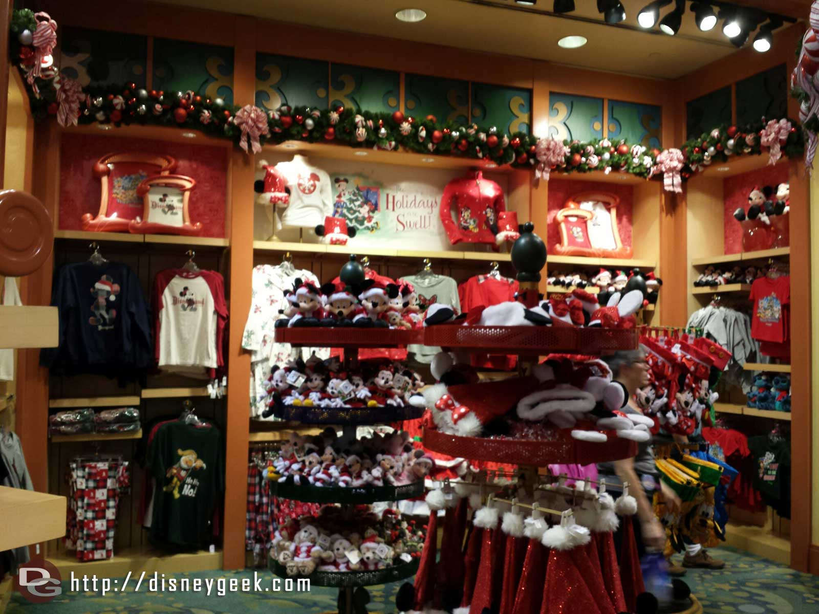 Inside World of Disney plenty of Christmas merchandise is available