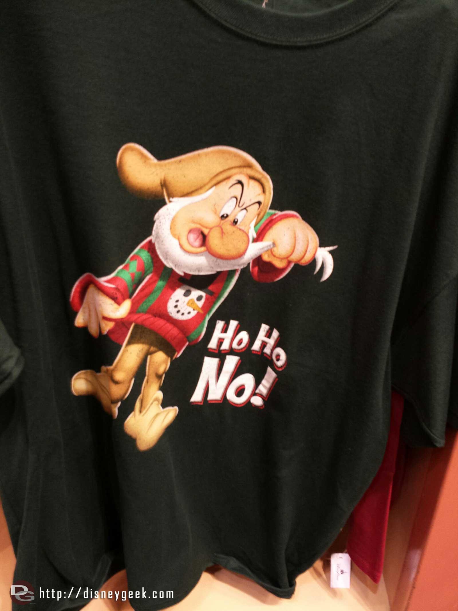 Grumpy sweatshirt Ho Ho No!  #ChristmasTime World of Disney