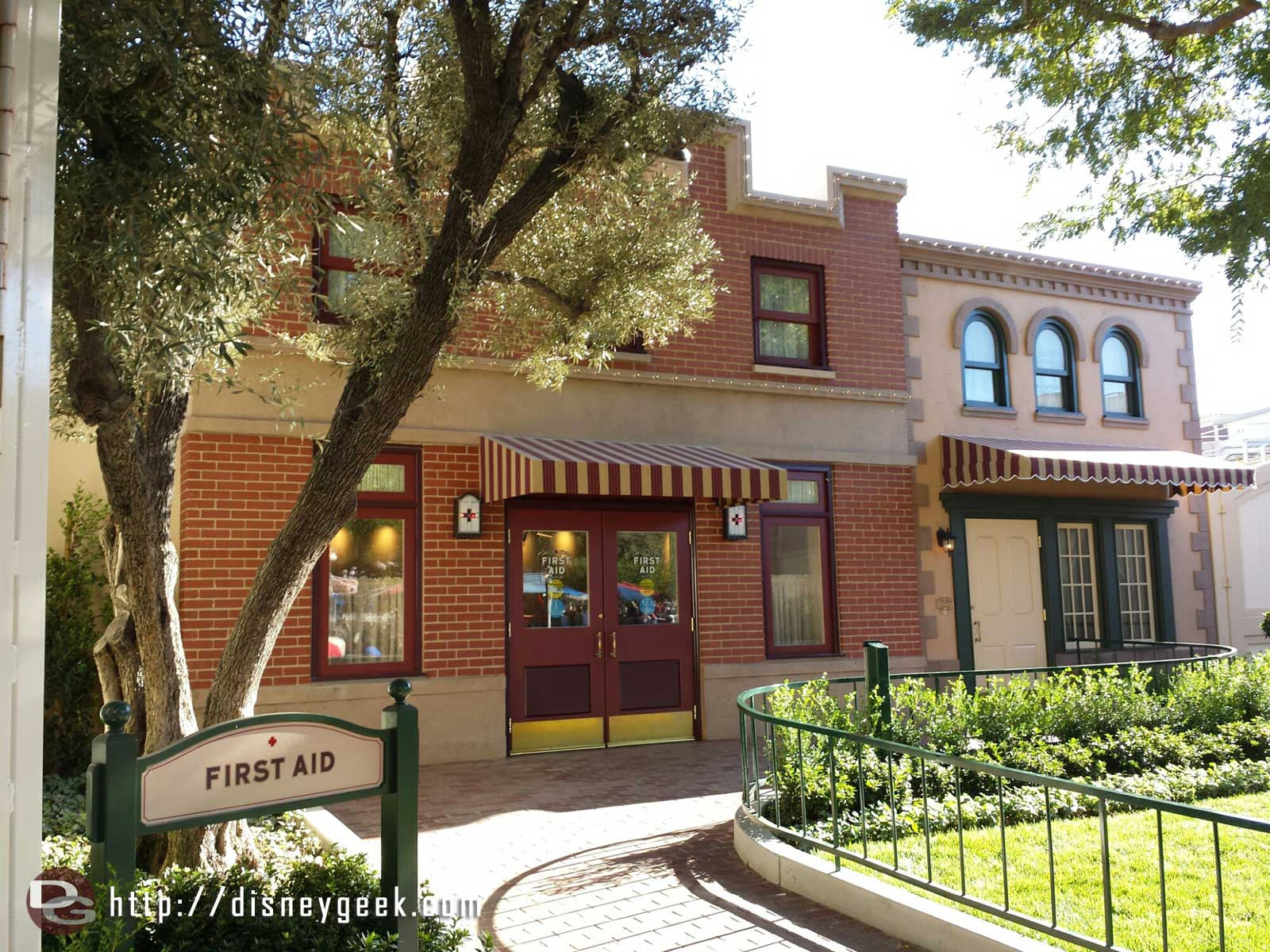 The first aid & wish lounge facades at #Disneyland