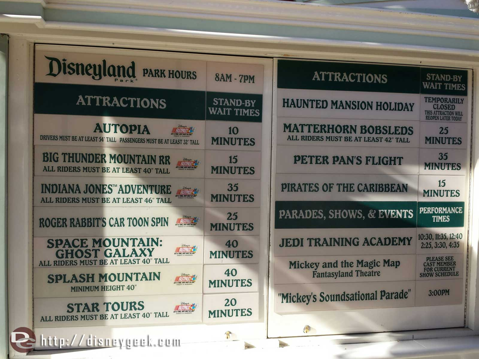 #Disneyland waits as of 3:48pm