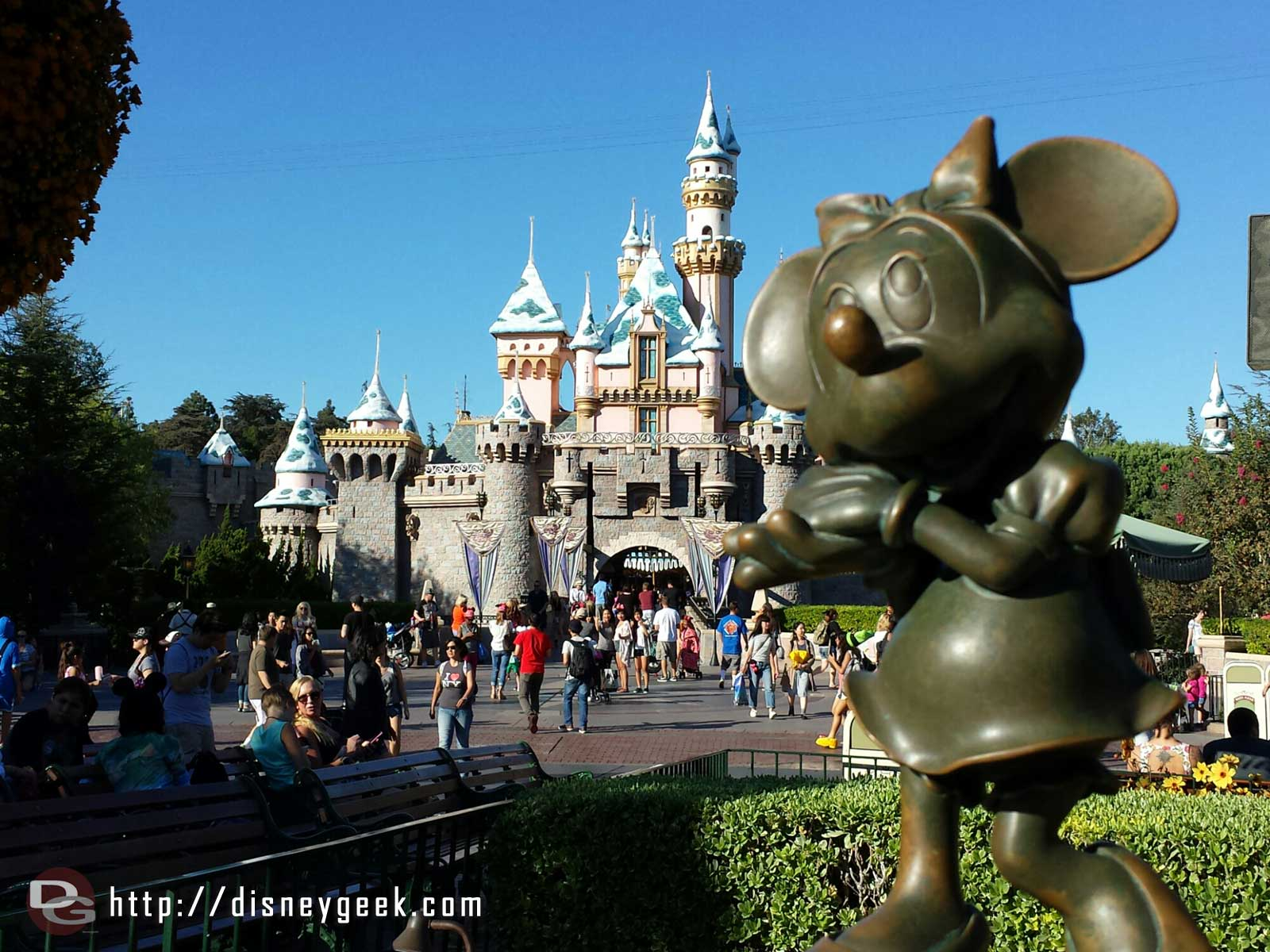 Minnie and Sleeping Beauty Castle #Disneyland