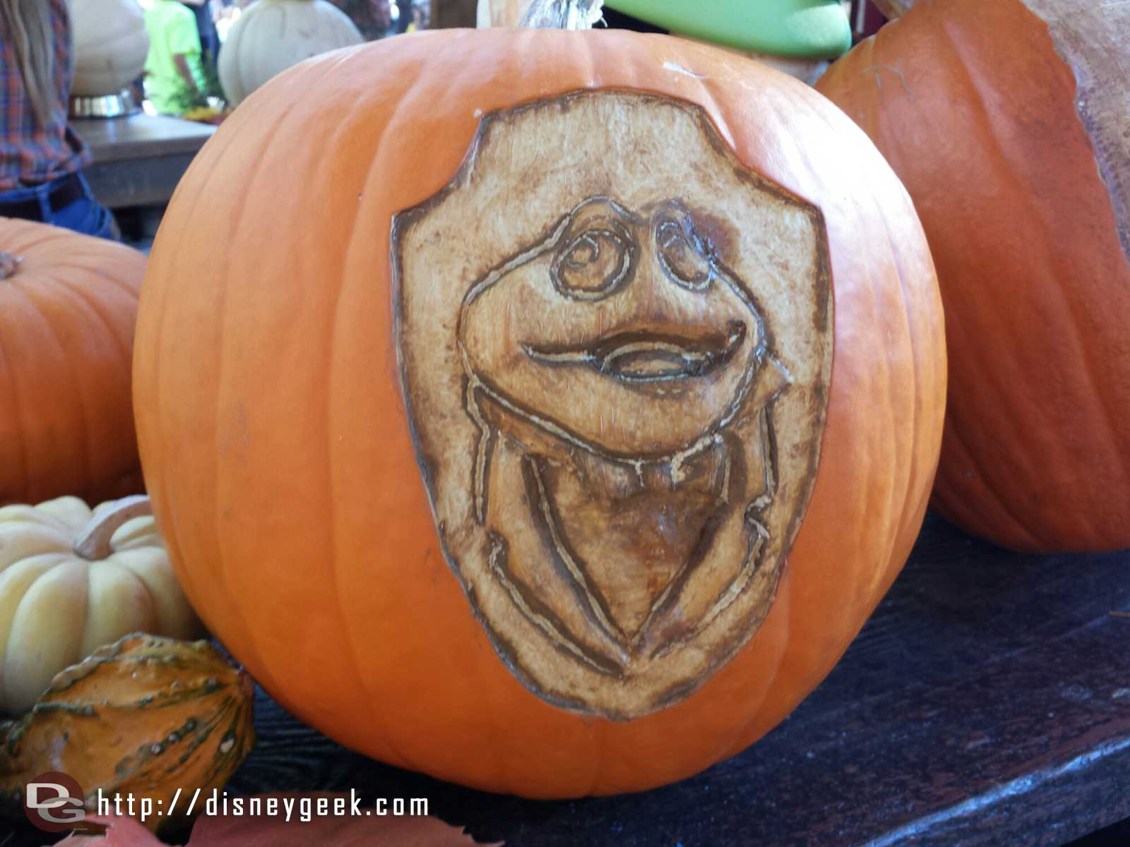 Mr. Toad pumpkin at the Big Thunder Ranch Jamboree Halloween Carnival #Disneyland