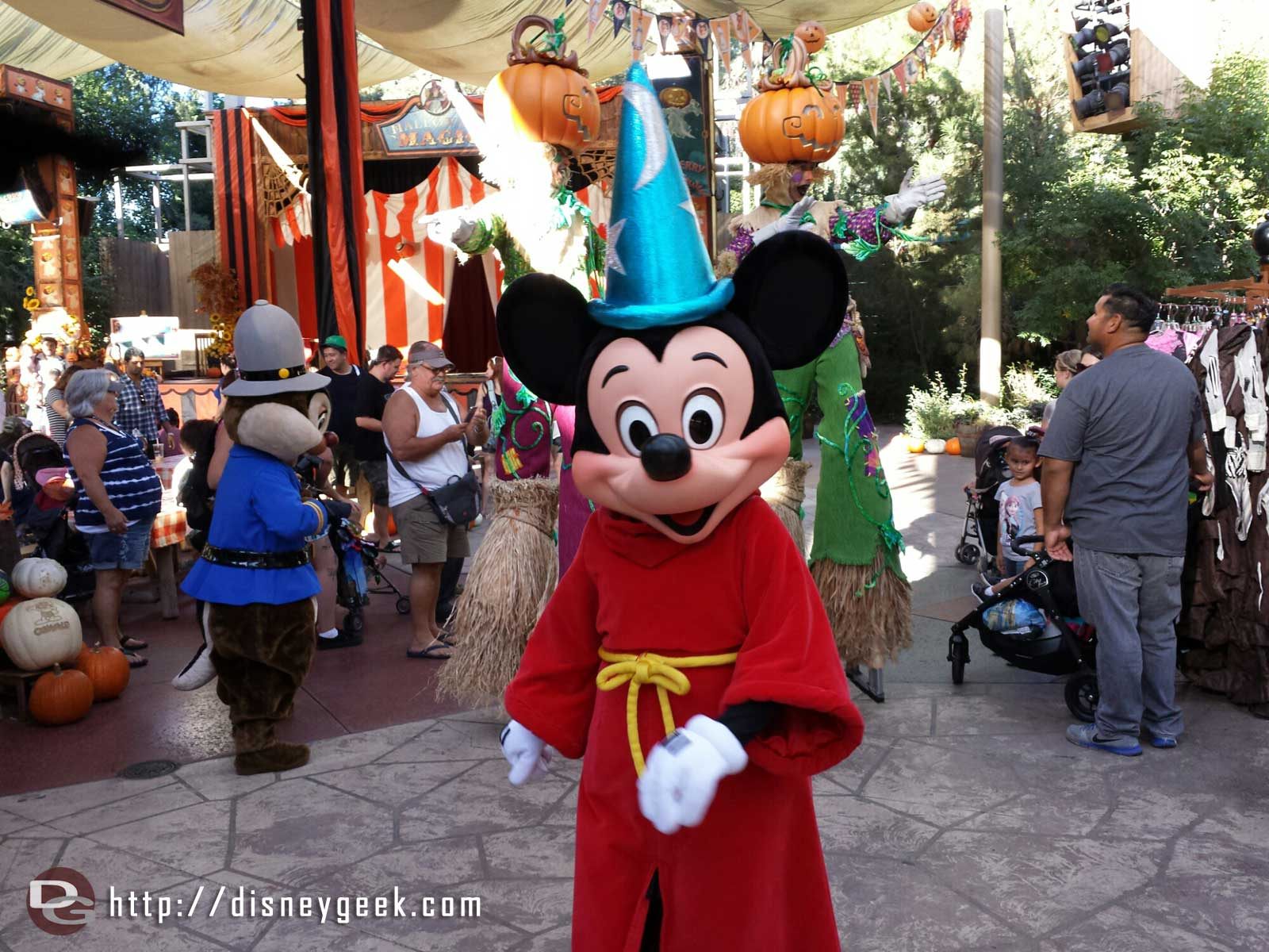 Sorcerer Mickey marching by at the Big Thunder Ranch Jamboree Halloween Carnival #Disneyland