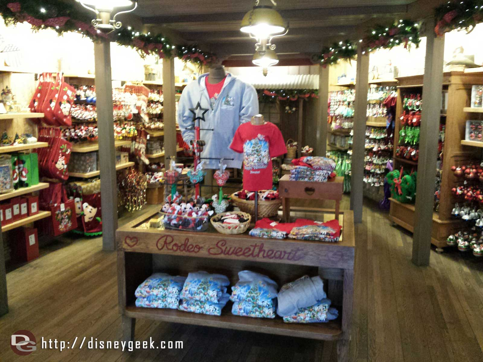 Christmas has taken over the Silver Spur Supply store in Frontierland
