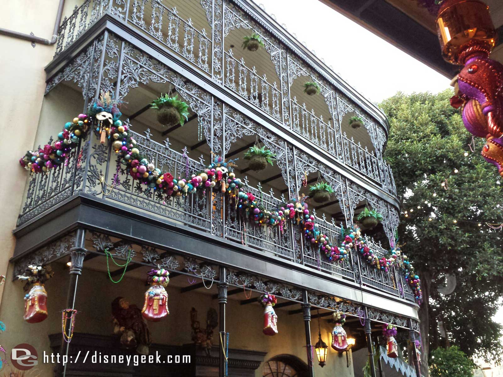 New Orleans Square is decorated for Christmas #Disneyland