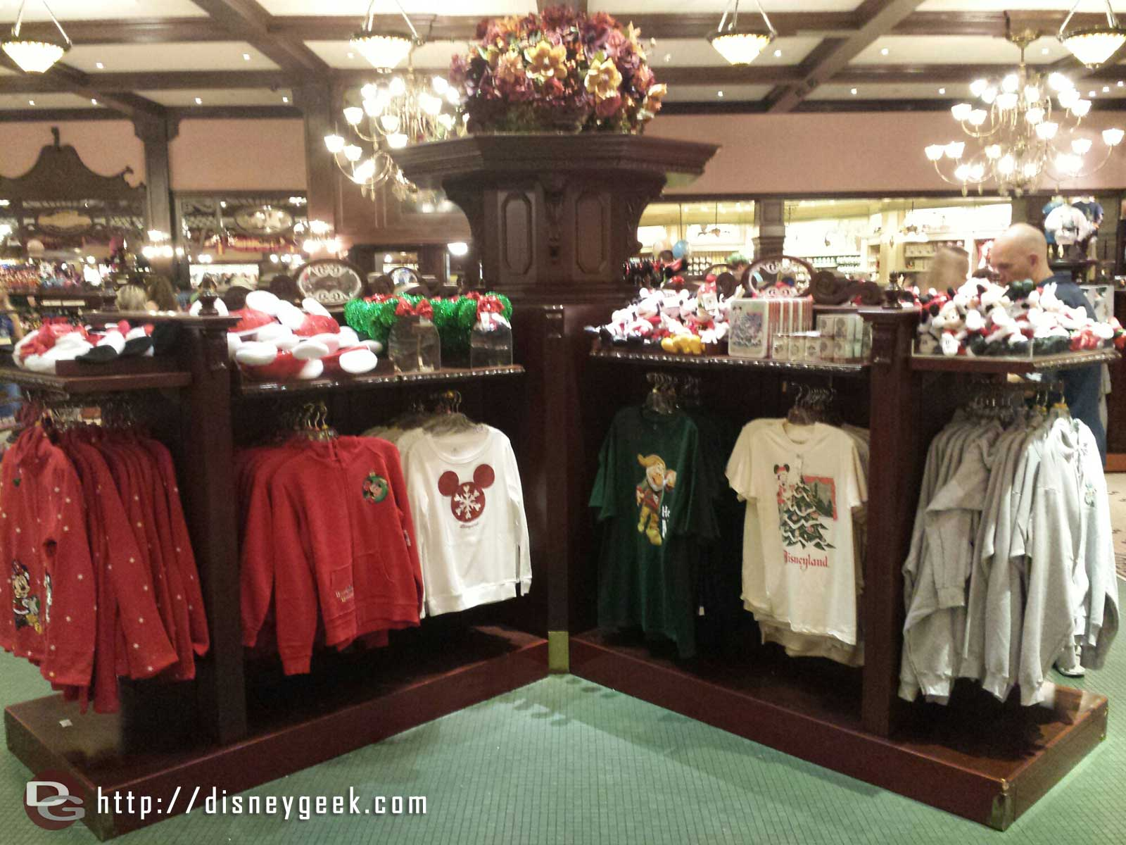 The Emporium features Christmas merchandise in the center of the store #Disneyland