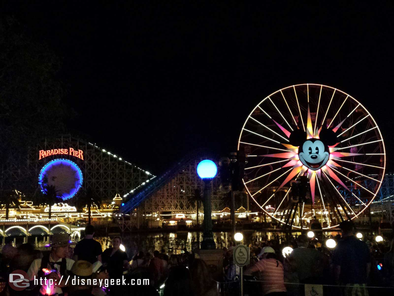 Paradise Pier as I am waiting for World of Color