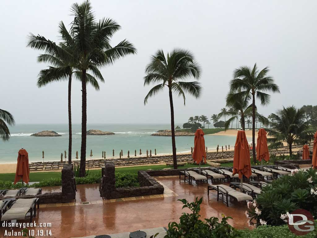 A rainy morning @ #Aulani Daynah's breakfast view @ Ama Ama