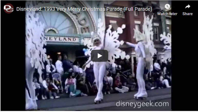 Disneyland 1993 Very Merry Christmas Parade