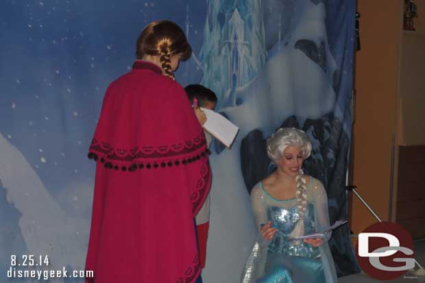 Disney Fantasy Cruise Ship – #Frozen Meet & Greet with Anna & Elsa (Guest Photo Blog)