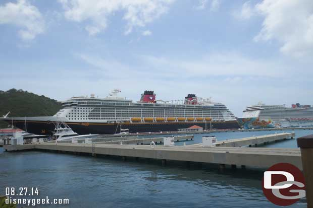 The Disney Fantasy in port at St. Thomas