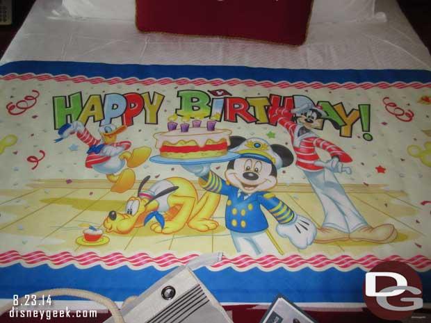 Disney Fantasy Cruise Ship Birthday Celebration Package Guest
