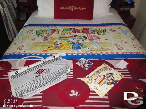 Disney Fantasy Cruise Ship Birthday Celebration Package