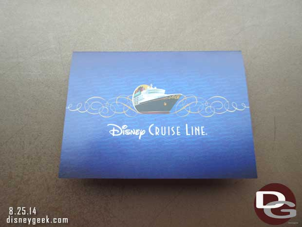 Disney Fanasy - Anna & Elsa reservation card