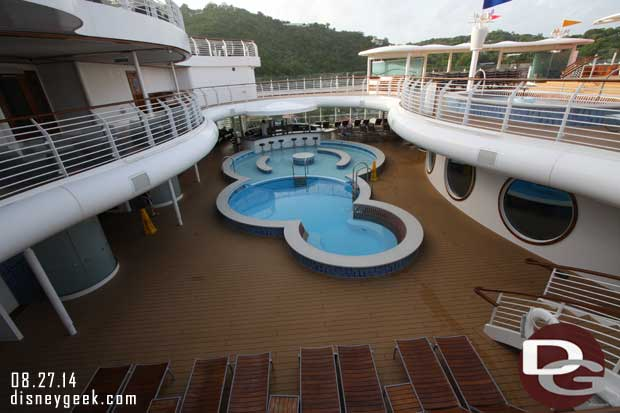 Disney Fantasy - An early morning walk around the ship.  As is the quiet pool