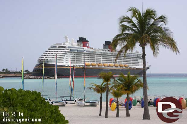 Disney Fantasy from Castaway Cay