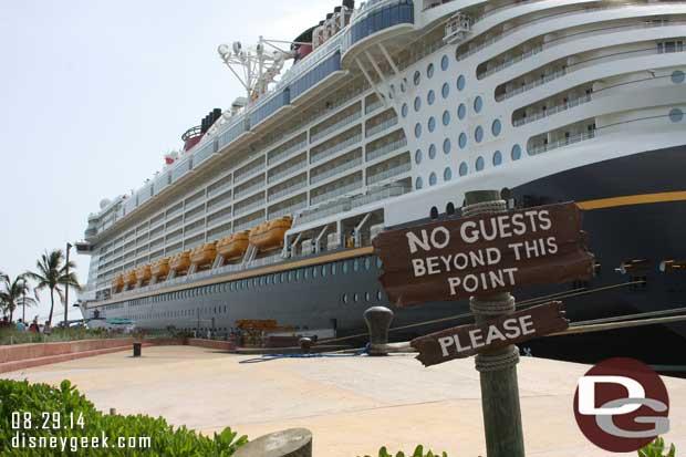 Disney Fantasy - Heading back toward the ship on Castaway Cay