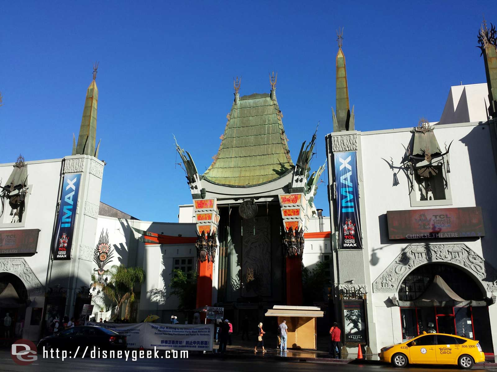 The Chinese theater in Hollywood